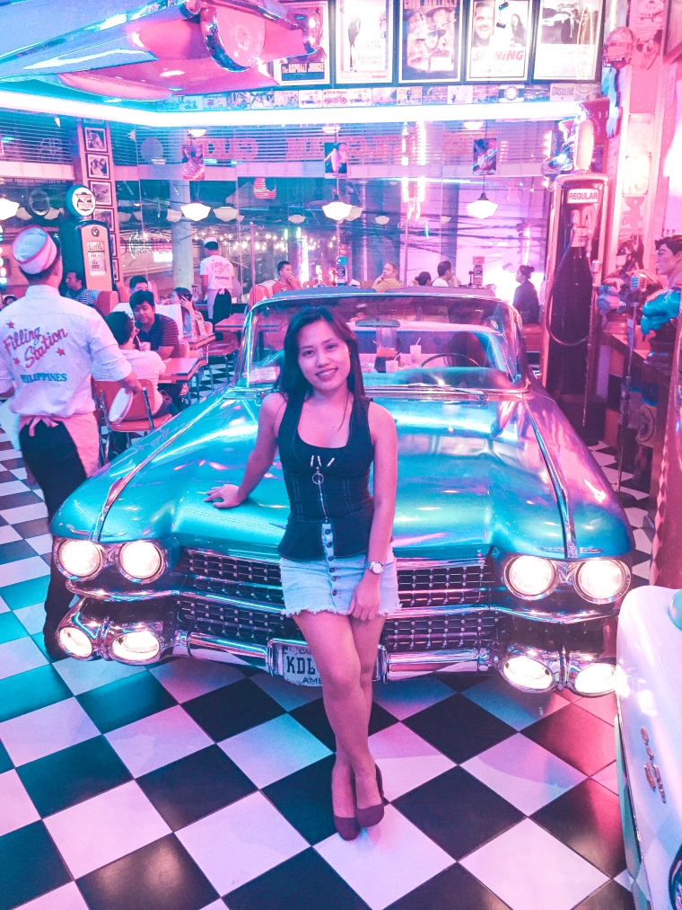 A Girl with a Fake Car